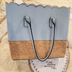 NWT Jen & Co. Blue Handbag,